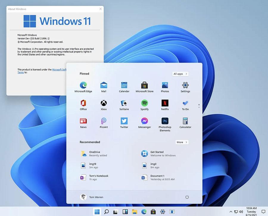 منوی ویندوز 11 Windows